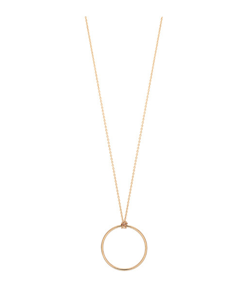Collier Mini Cercle or rose - Ginette_ny