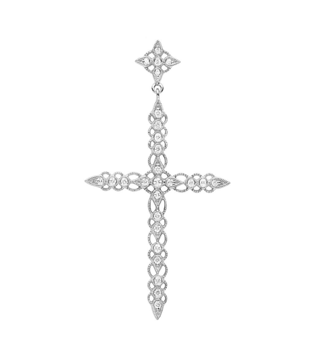 STONE PARIS - Pendentif Céleste Diamants GM Or Blanc