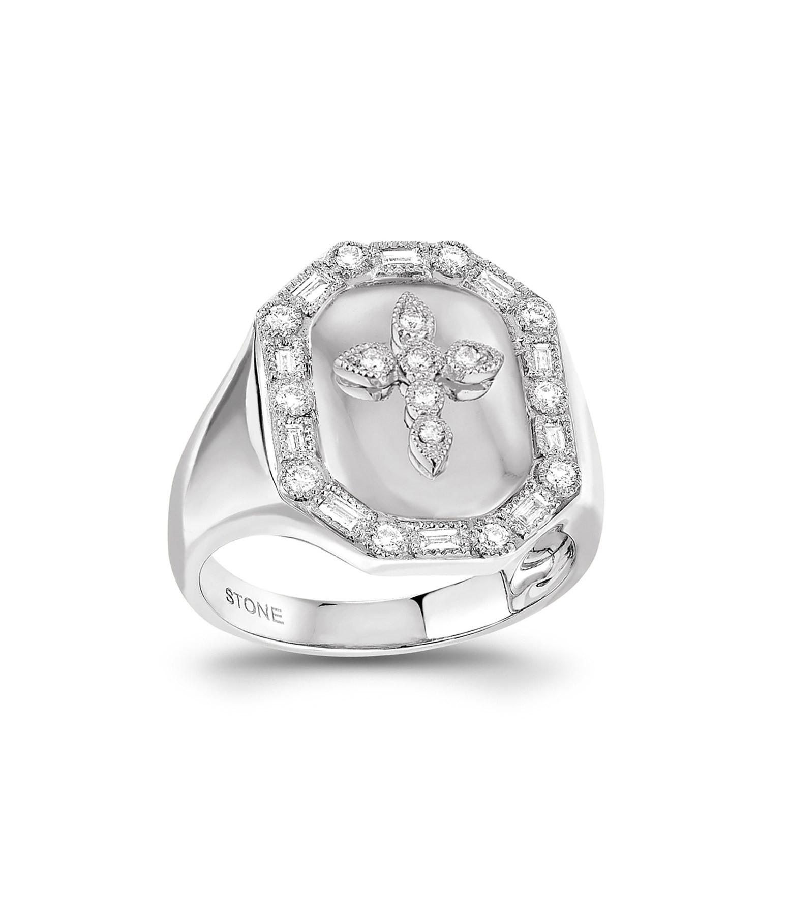 STONE PARIS - Chevaliere Céleste Diamants Or Blanc