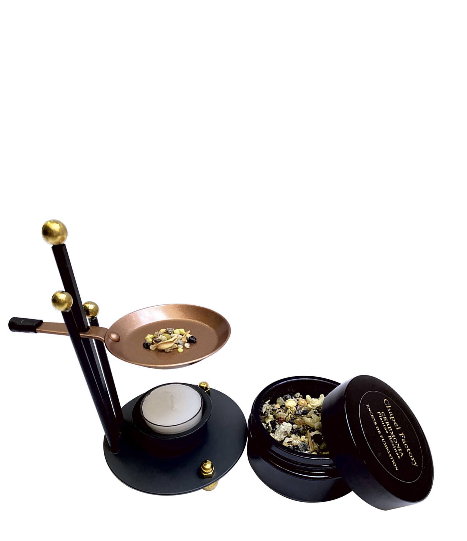 CHAPEL FACTORY - Kit Encens et Brûle Parfum Ceremonia