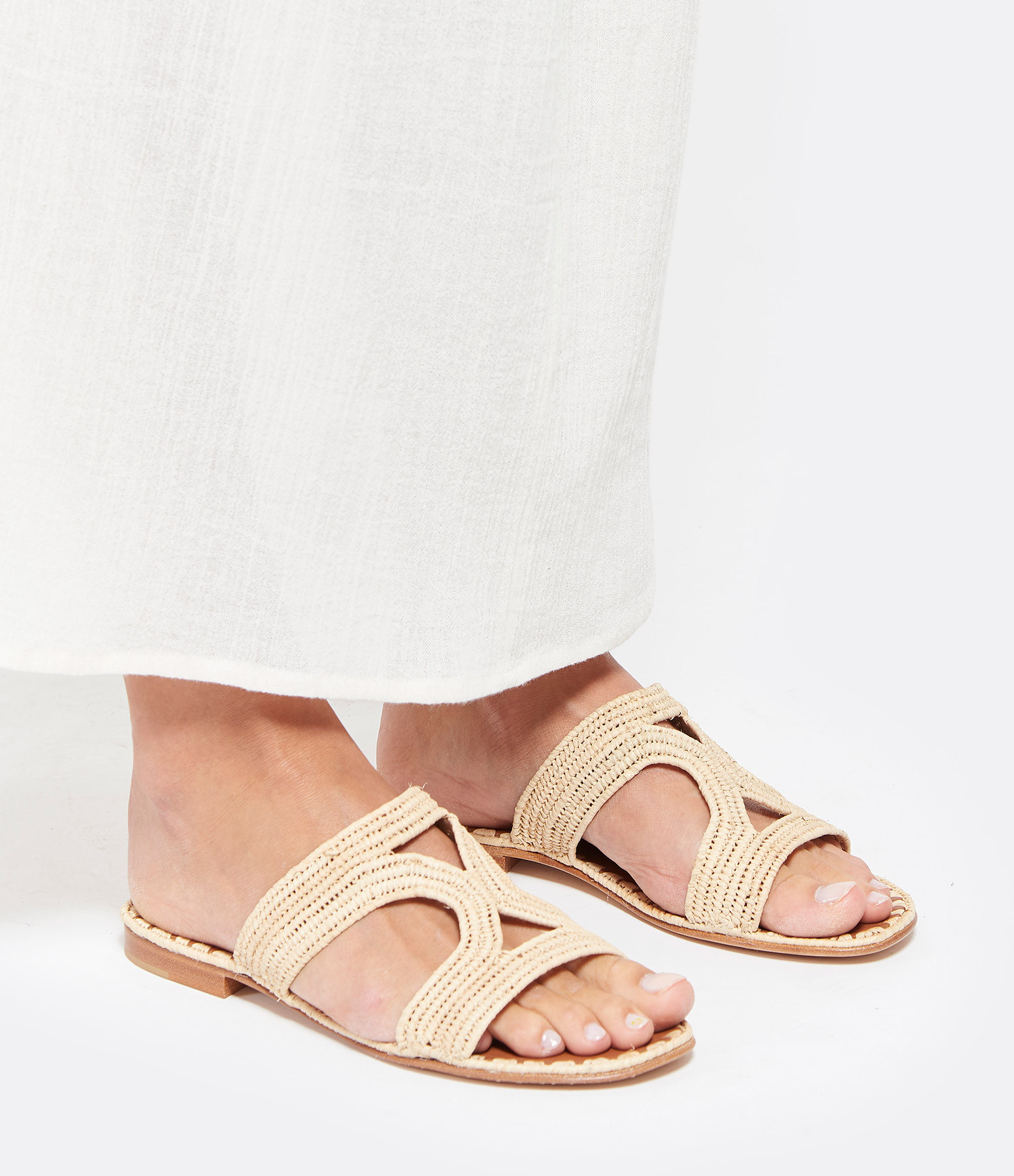 CARRIE FORBES - Mules Moha Raffia Naturel