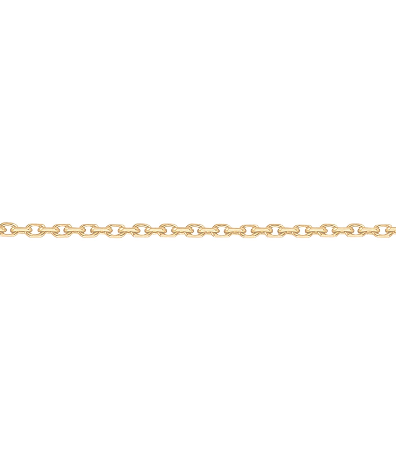 Chaîne Forçat Or Diamantée 40 cm - Or blanc - Stone