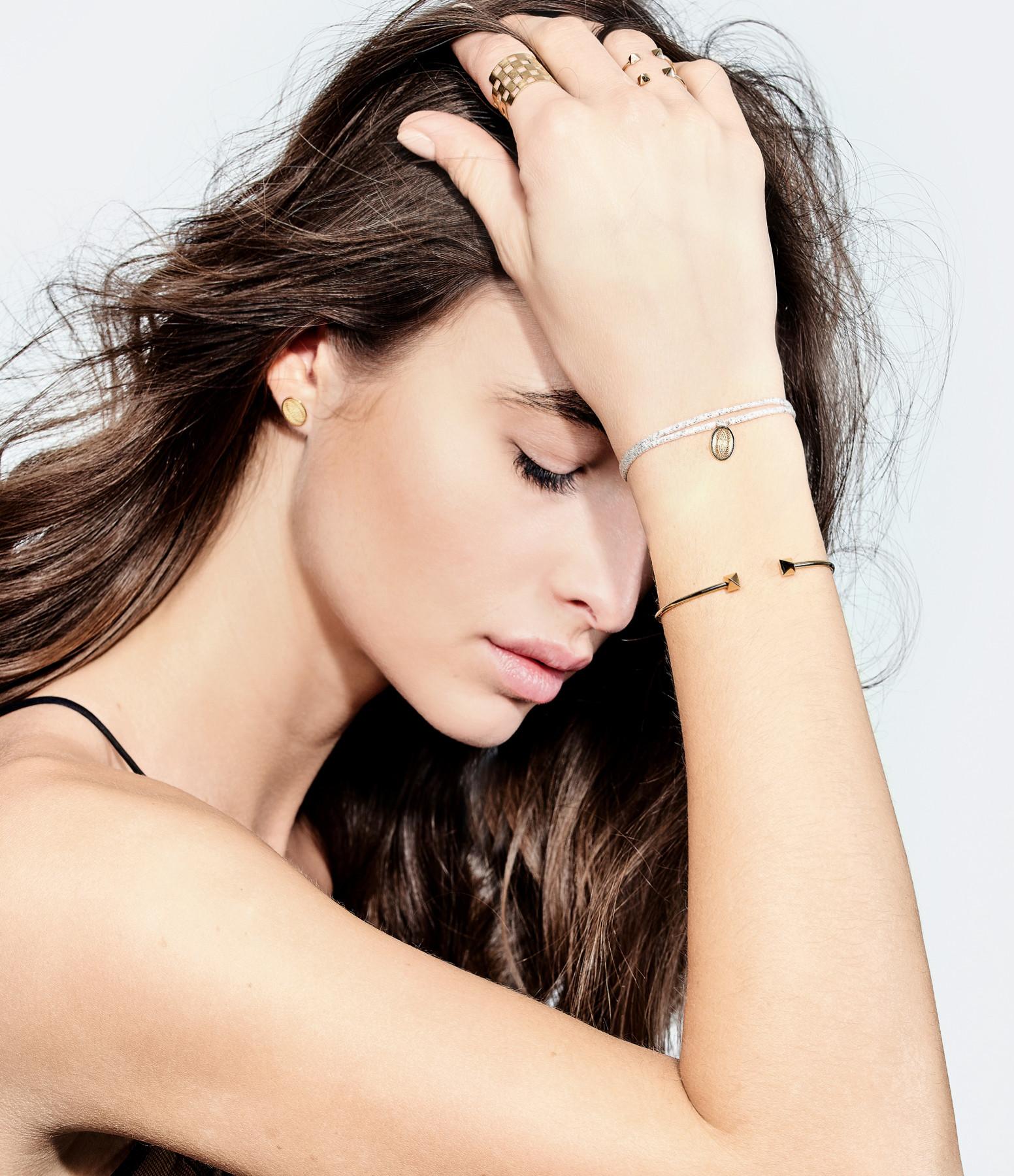 Bracelet Cordon Petite Médaille Aura - Charlet