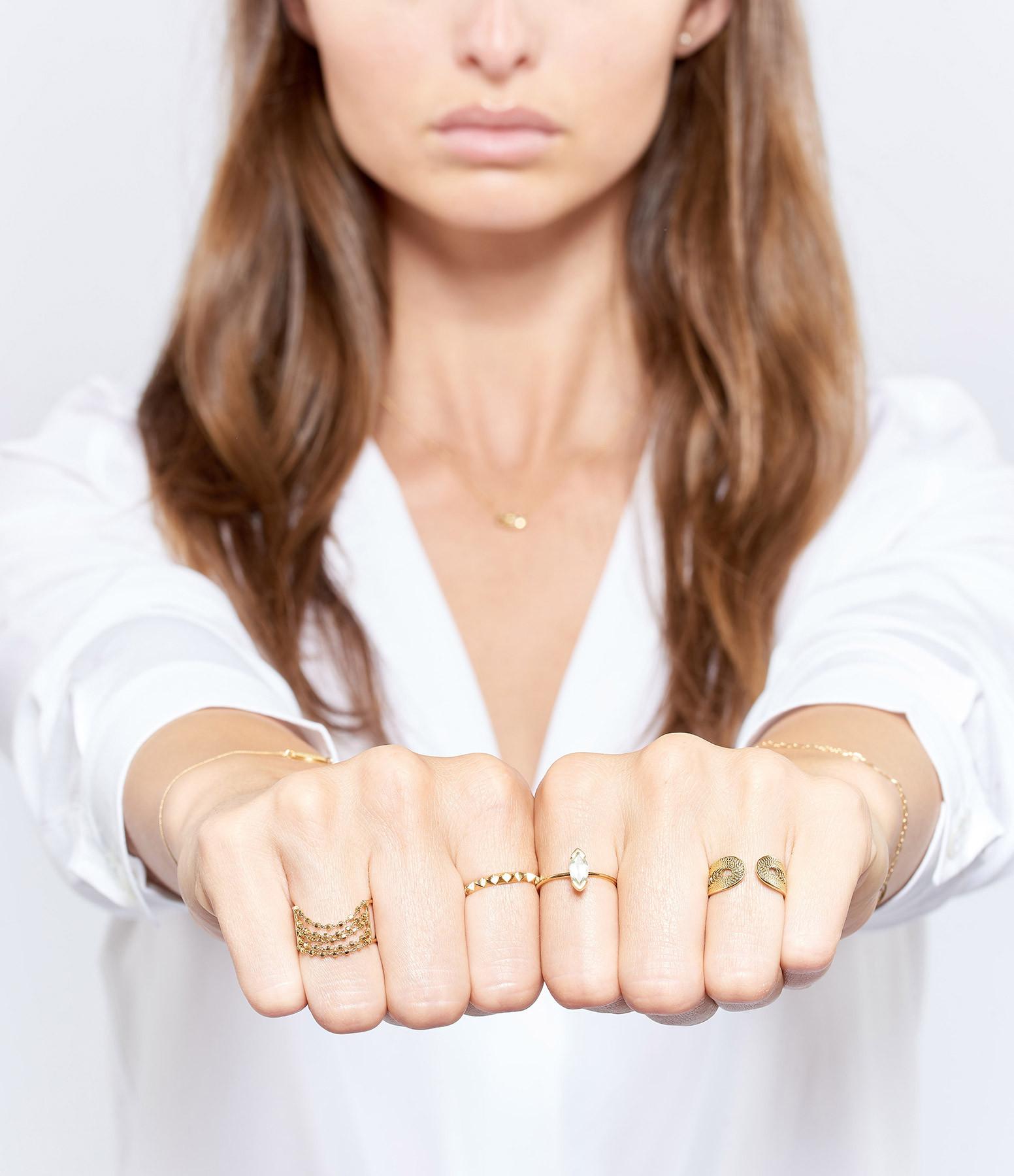 CHARLET - Bague 5 Chaînes Diamantées