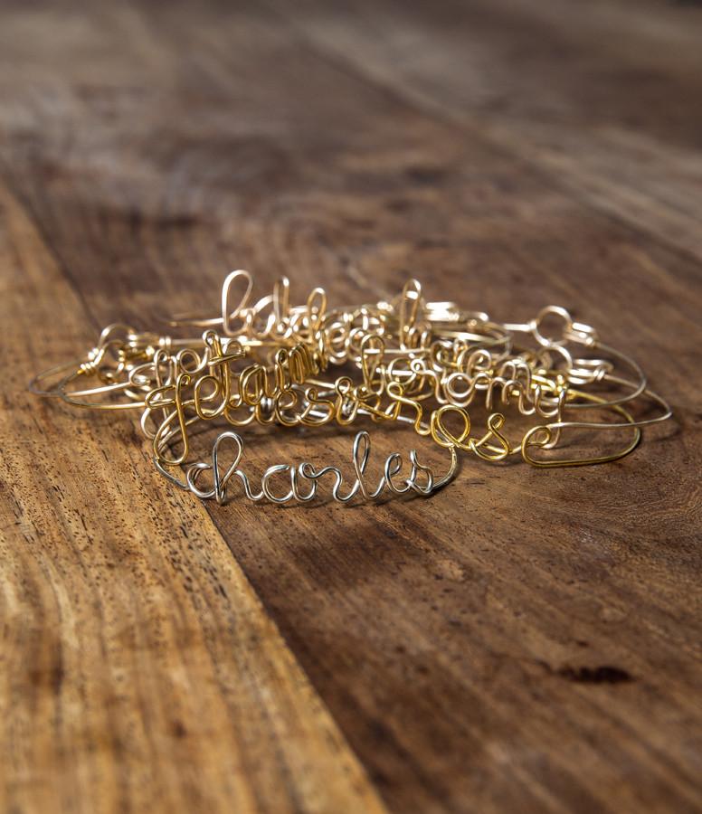 Bracelet Fil personnalisable Argent - ATELIER PAULIN