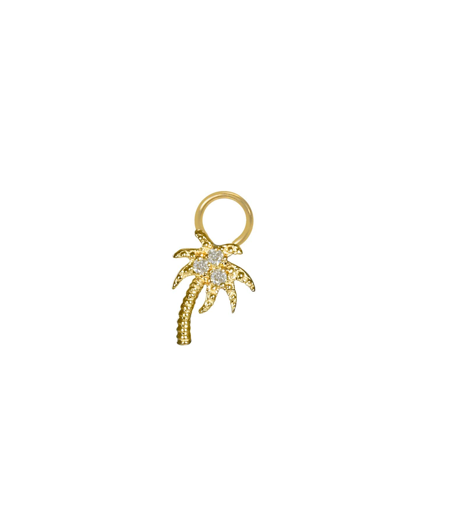 AND...PARIS - Mini Charm Palmier Diamants Or