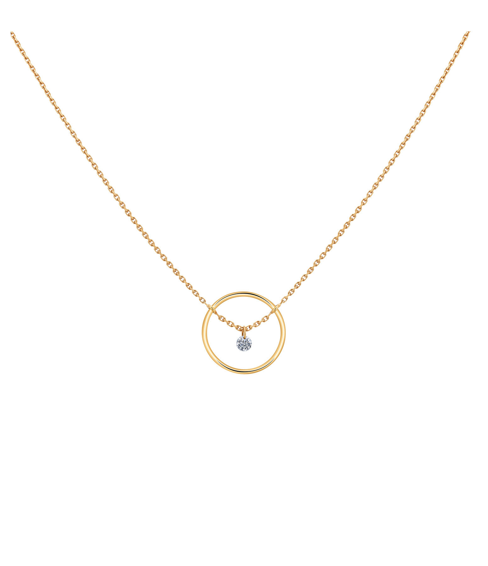 LA BRUNE & LA BLONDE - Collier Excentrique Diamant Brillant Or Jaune
