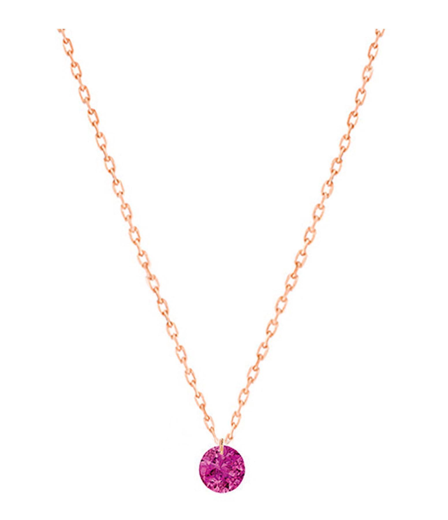 LA BRUNE & LA BLONDE - Collier Confetti Rubis Or Rose