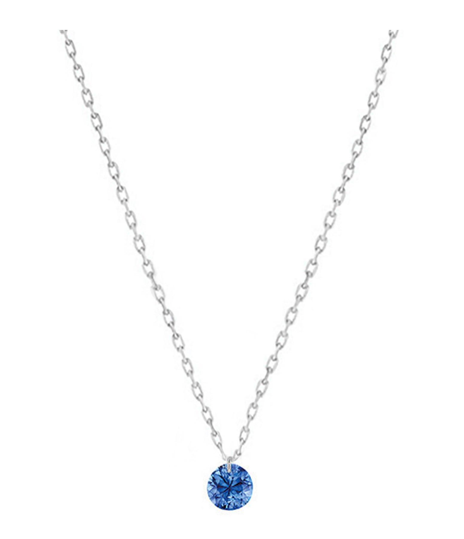 LA BRUNE & LA BLONDE - Collier Confetti Saphir Bleu Or Blanc