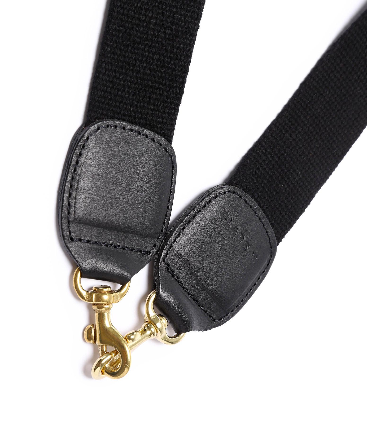 CLARE V. - Bandoulière Coton Uni Noir