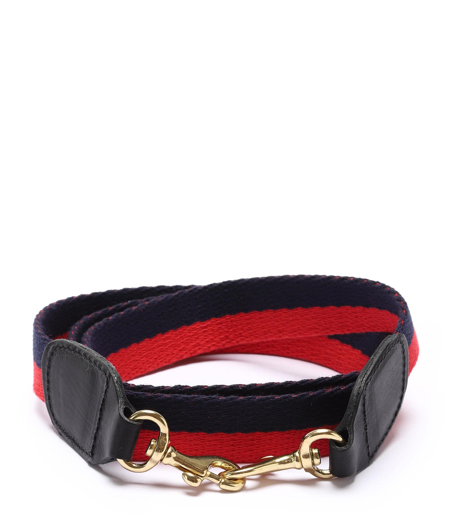 CLARE V. - Bandoulière 1 Coton Rouge Navy