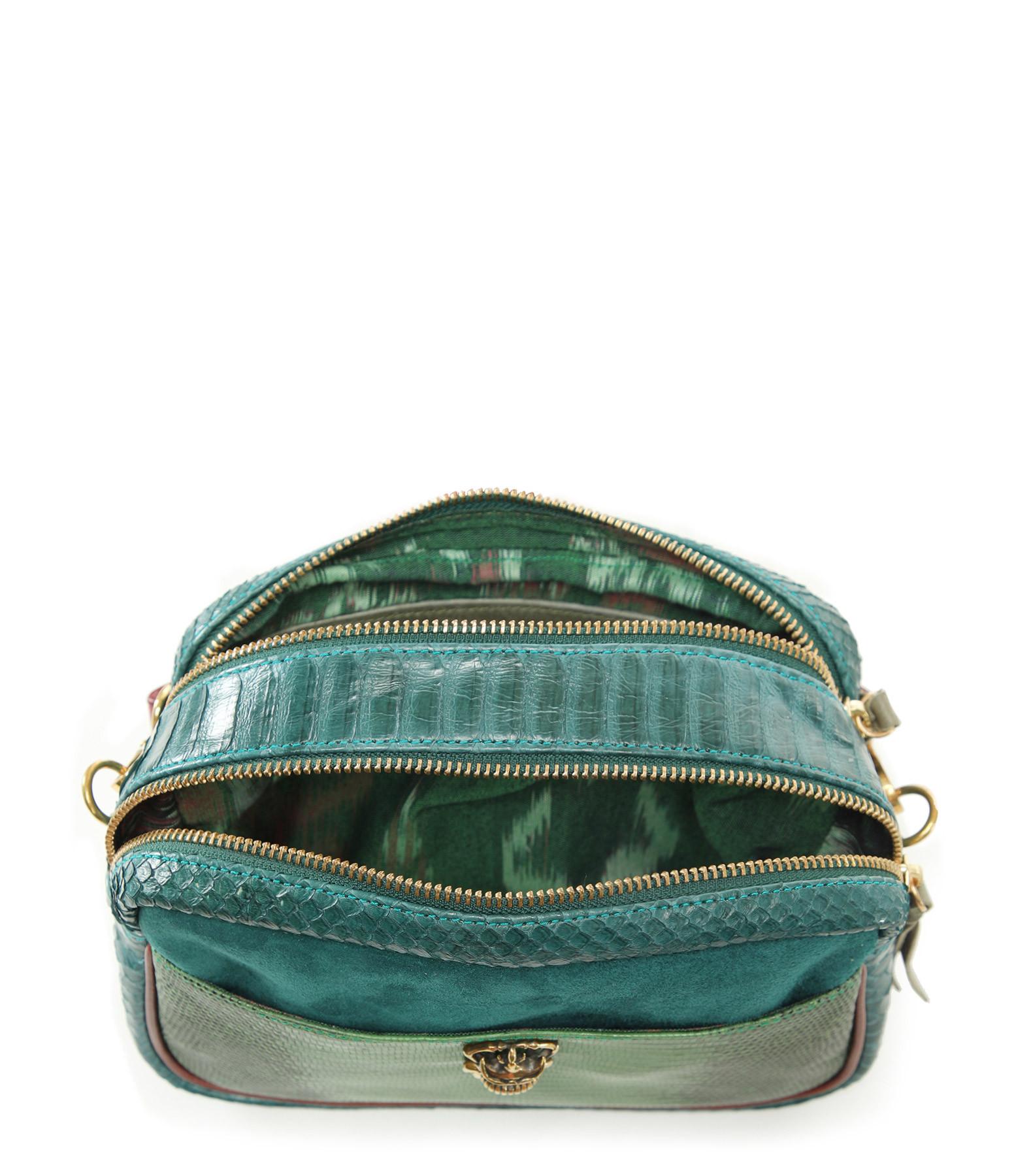 CLARIS VIROT - Sac Lily Python Bleu Canard Vert