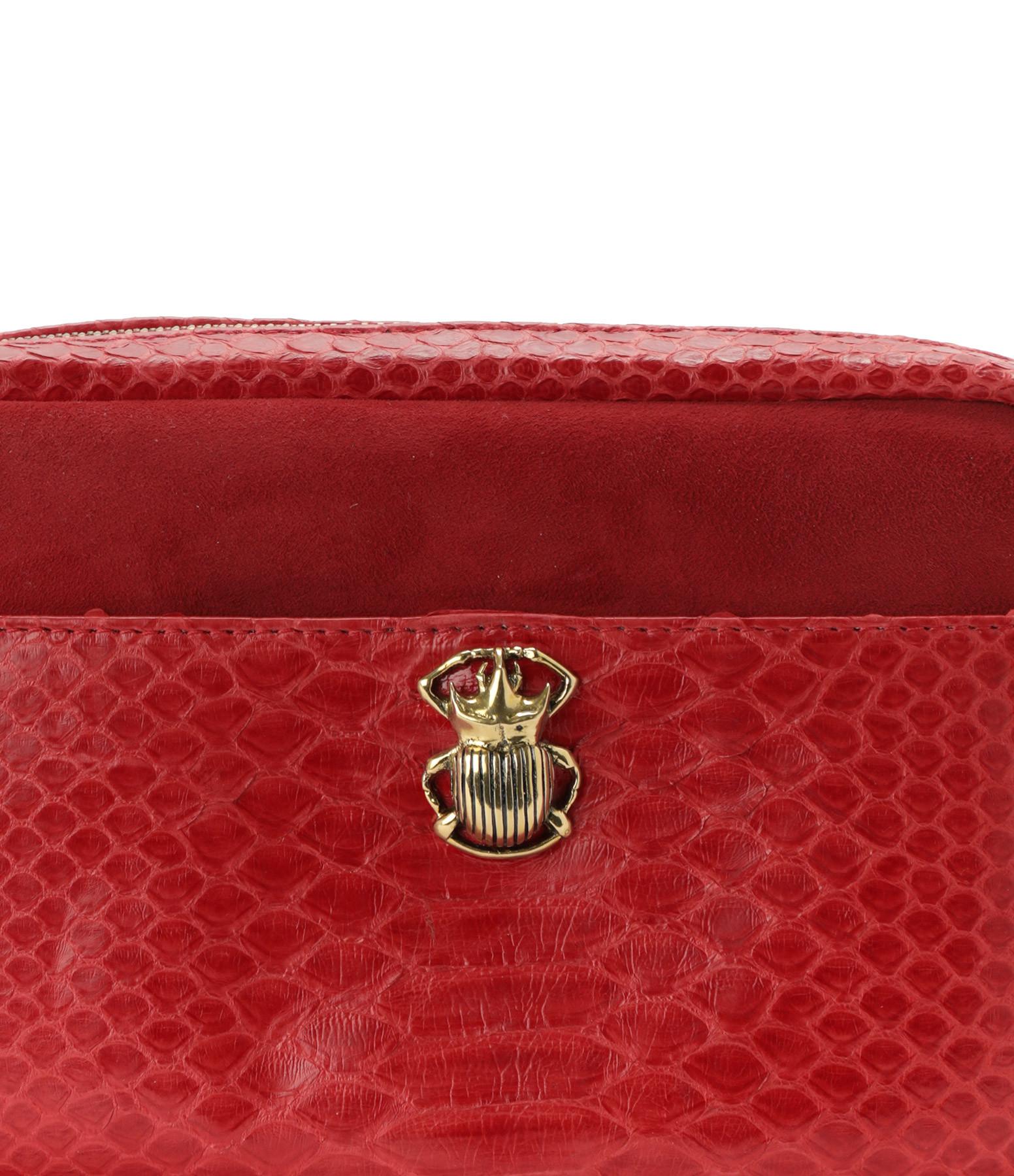 CLARIS VIROT - Sac Lily Python Rouge