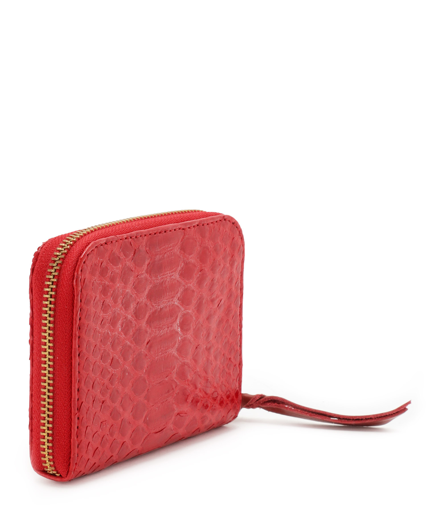 CLARIS VIROT - Porte-monnaie Mini Bob Python Rouge