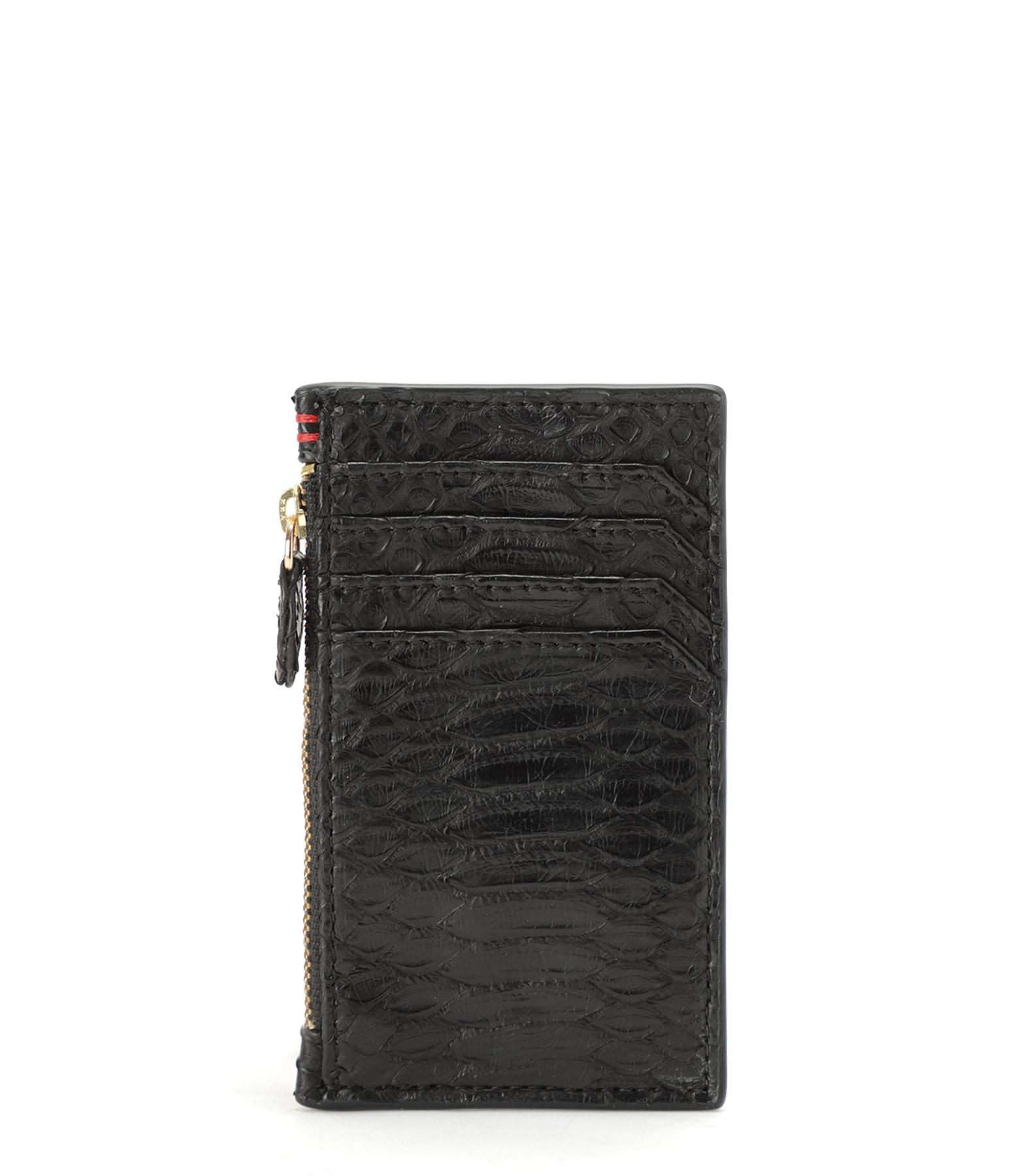 CLARIS VIROT - Porte-cartes Héléna Python Noir