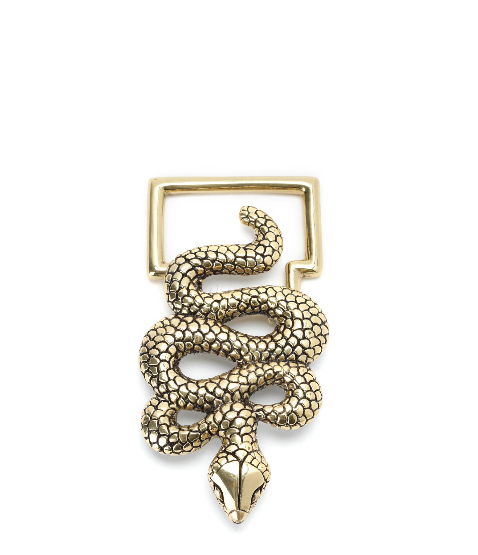 CLARIS VIROT - Boucle de Ceinture Serpent Doré