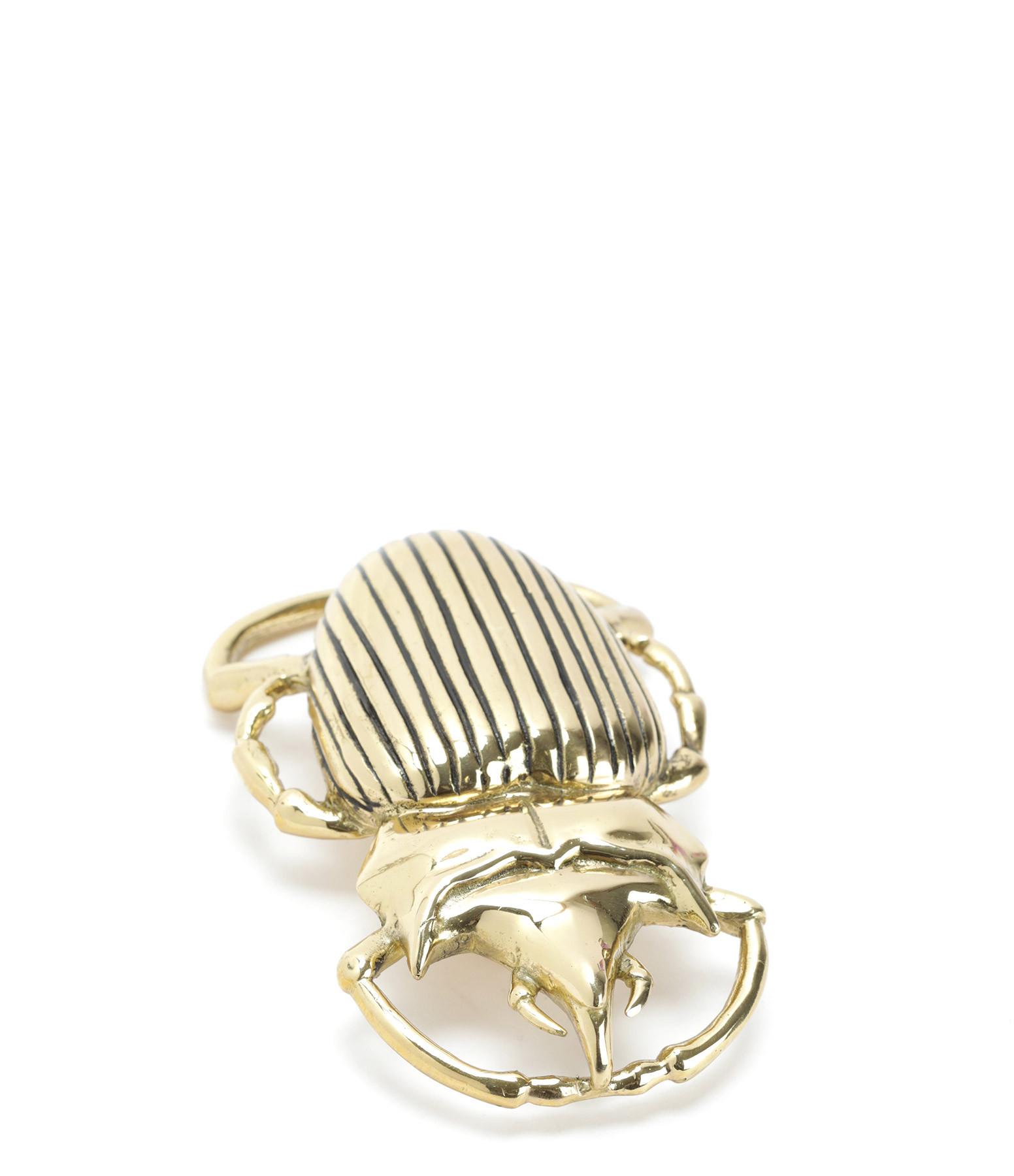 CLARIS VIROT - Boucle de Ceinture Beetle Scarabée Doré