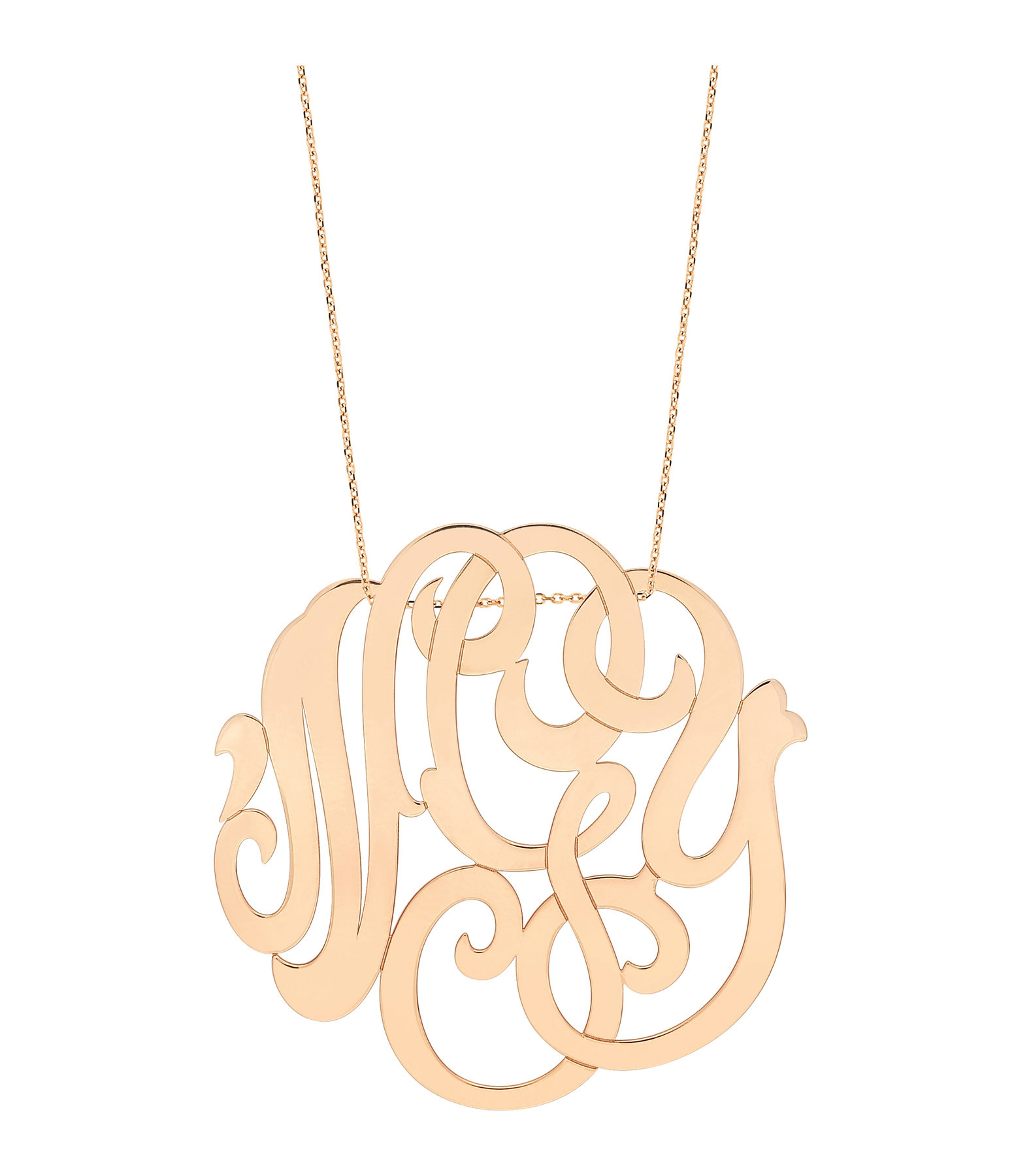 "Collier Jumbo Monogramme ""nGy"" - GINETTE_NY"