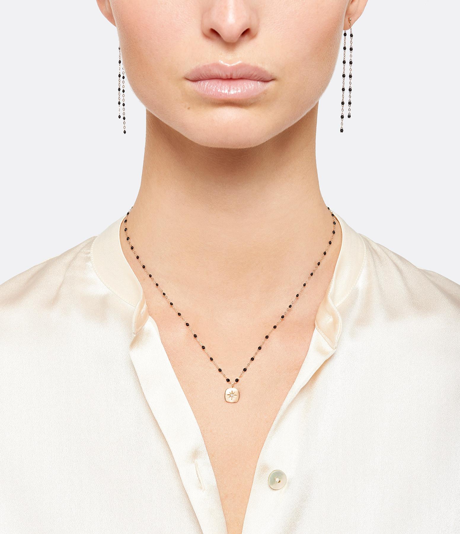 GIGI CLOZEAU - Boucles d'oreilles Pendantes Perles Résine Or gris