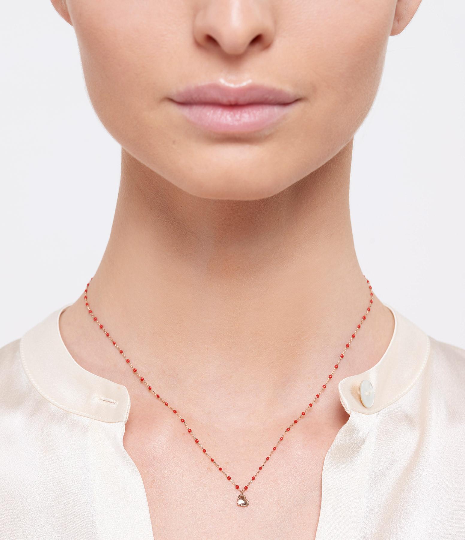 GIGI CLOZEAU - Collier Mini Perles Résine Lucky Coeur OG