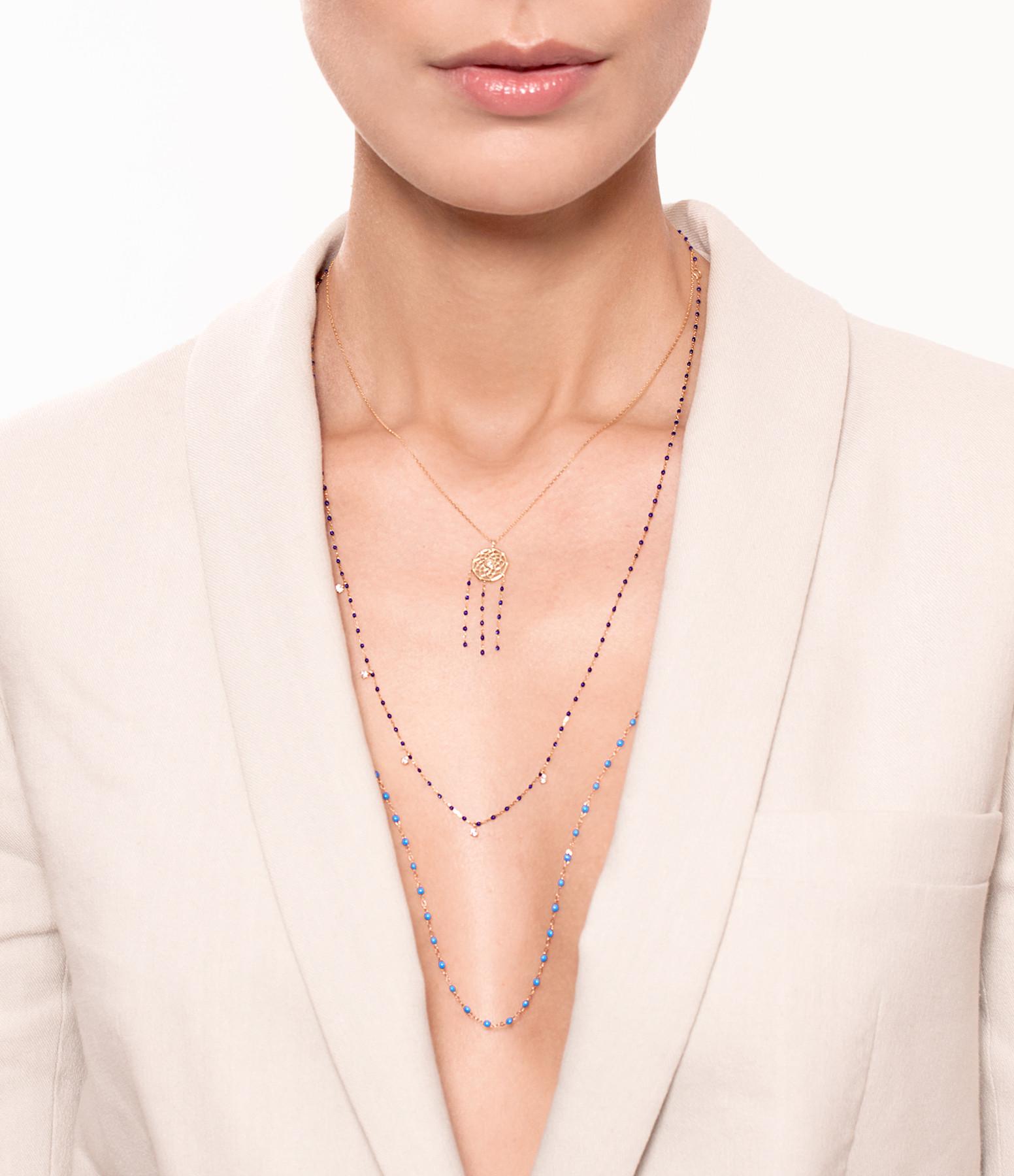 GIGI CLOZEAU - Sautoir Perles Résine Or 86 cm 27 Couleurs