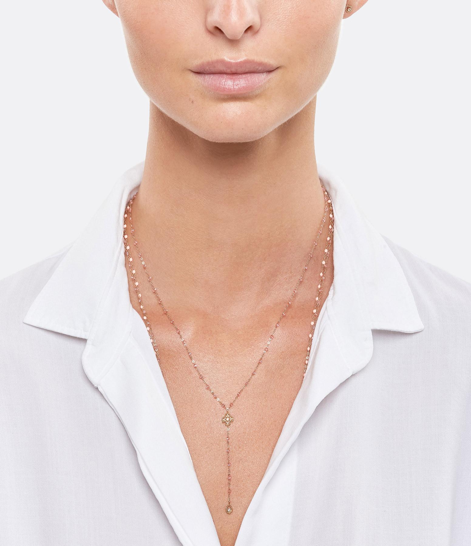 GIGI CLOZEAU - Collier Chapelet Lucky Trèfle Perles Résine Or Diamants