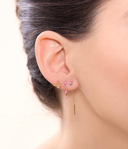 Boucles d'oreilles Pendantes Double Puce - CLOZEAU
