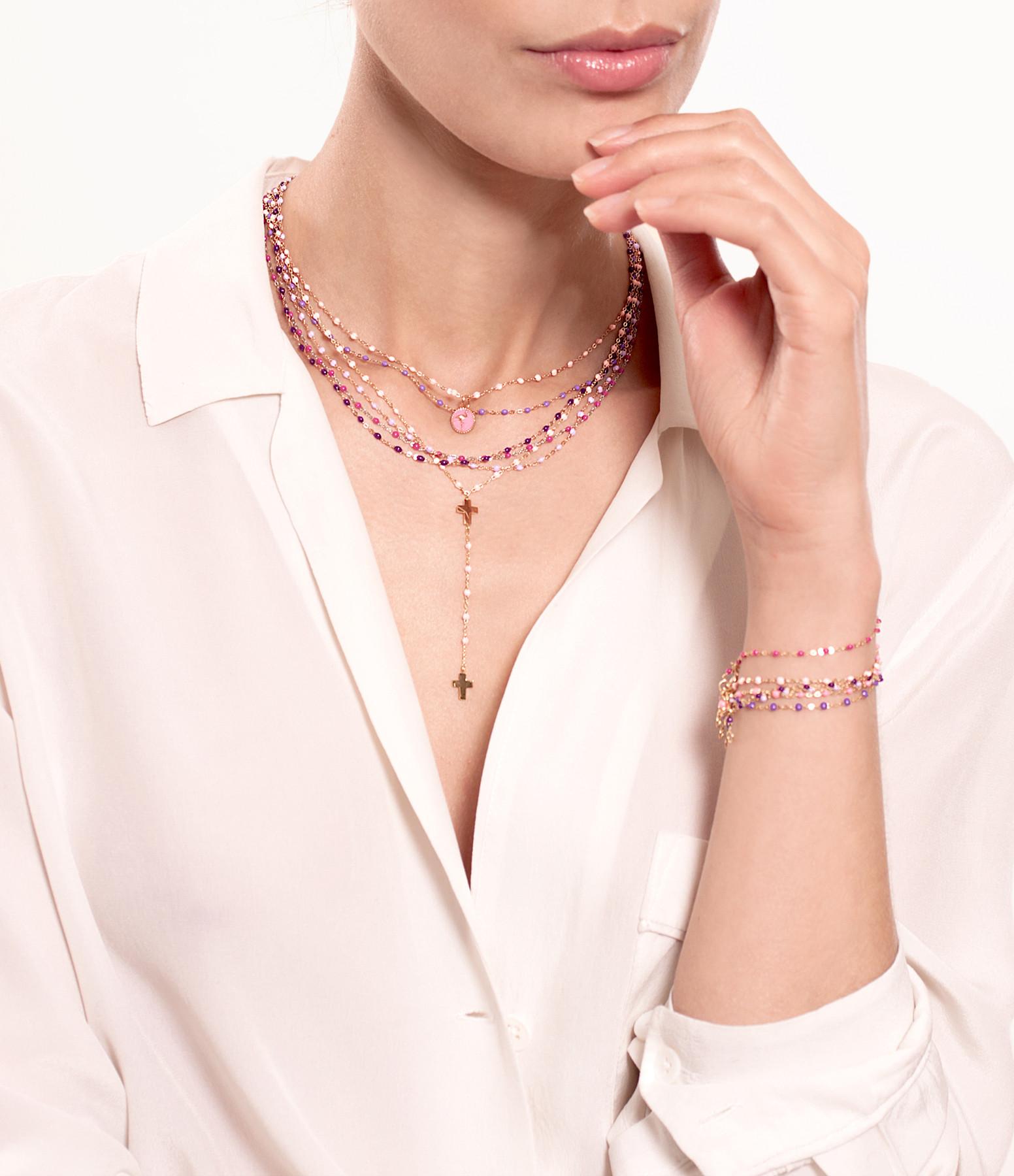 Collier Perles Résine Or 42cm - Gigi Clozeau