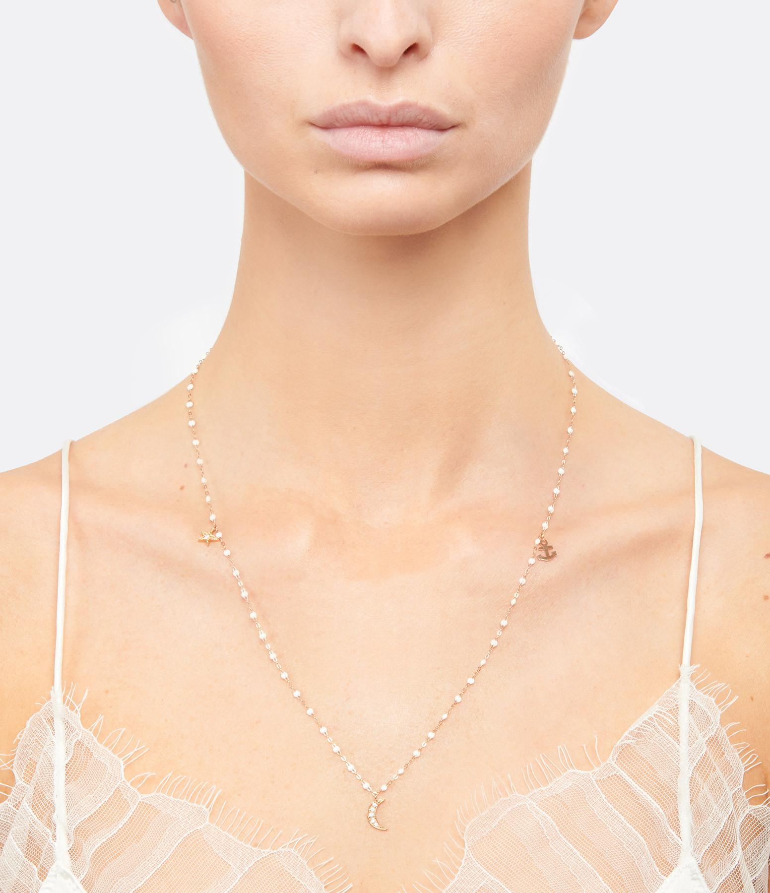GIGI CLOZEAU - Collier Lune Ancre Étoile Perles Résine Or Diamants