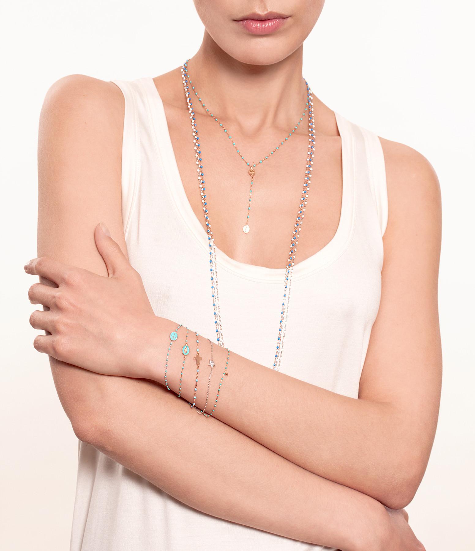 Bracelet Perles Résine Croix - GIGI CLOZEAU