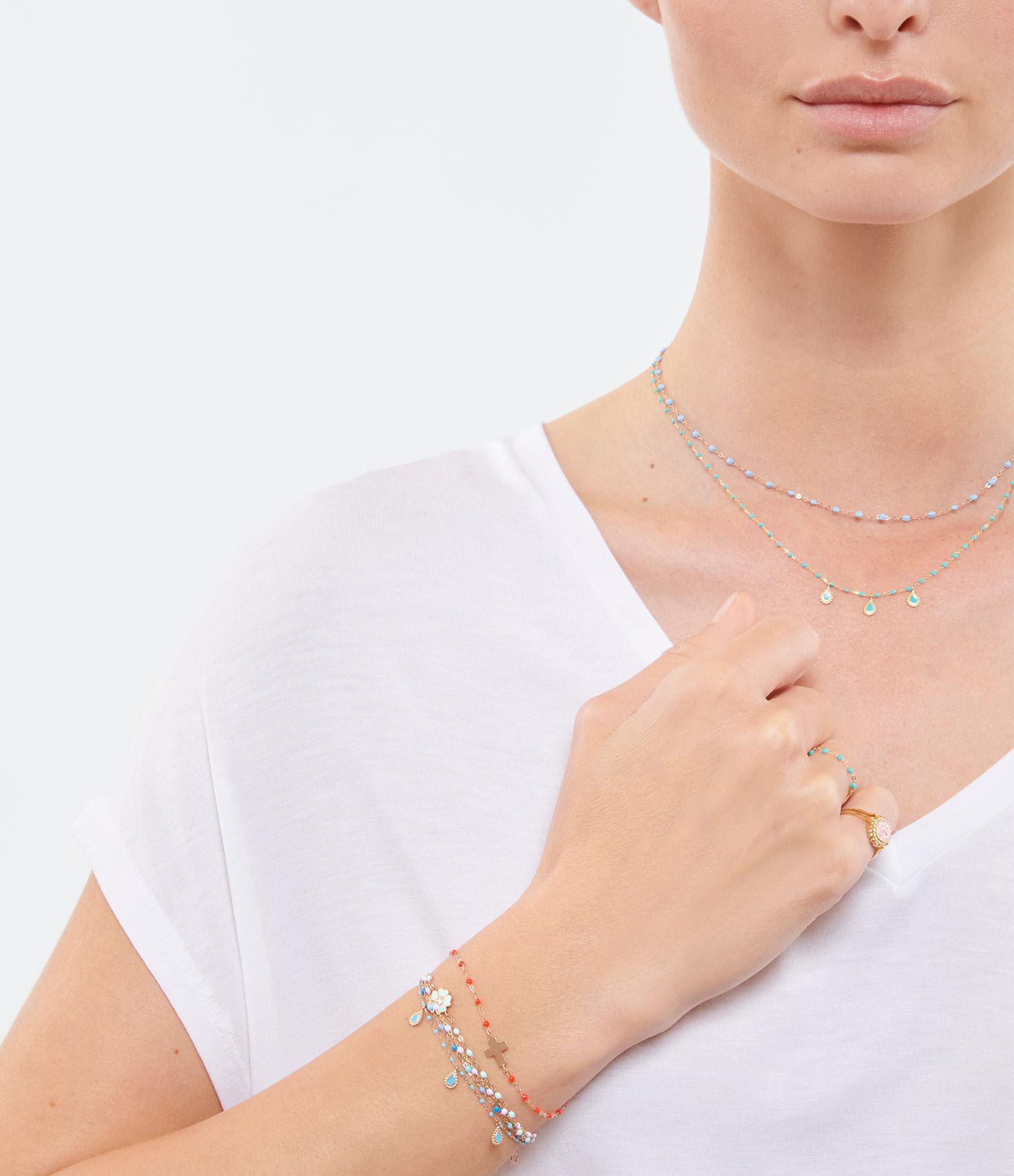 GIGI CLOZEAU - Bracelet Mini Perles Résine 3 Lucky Cachemire OJ