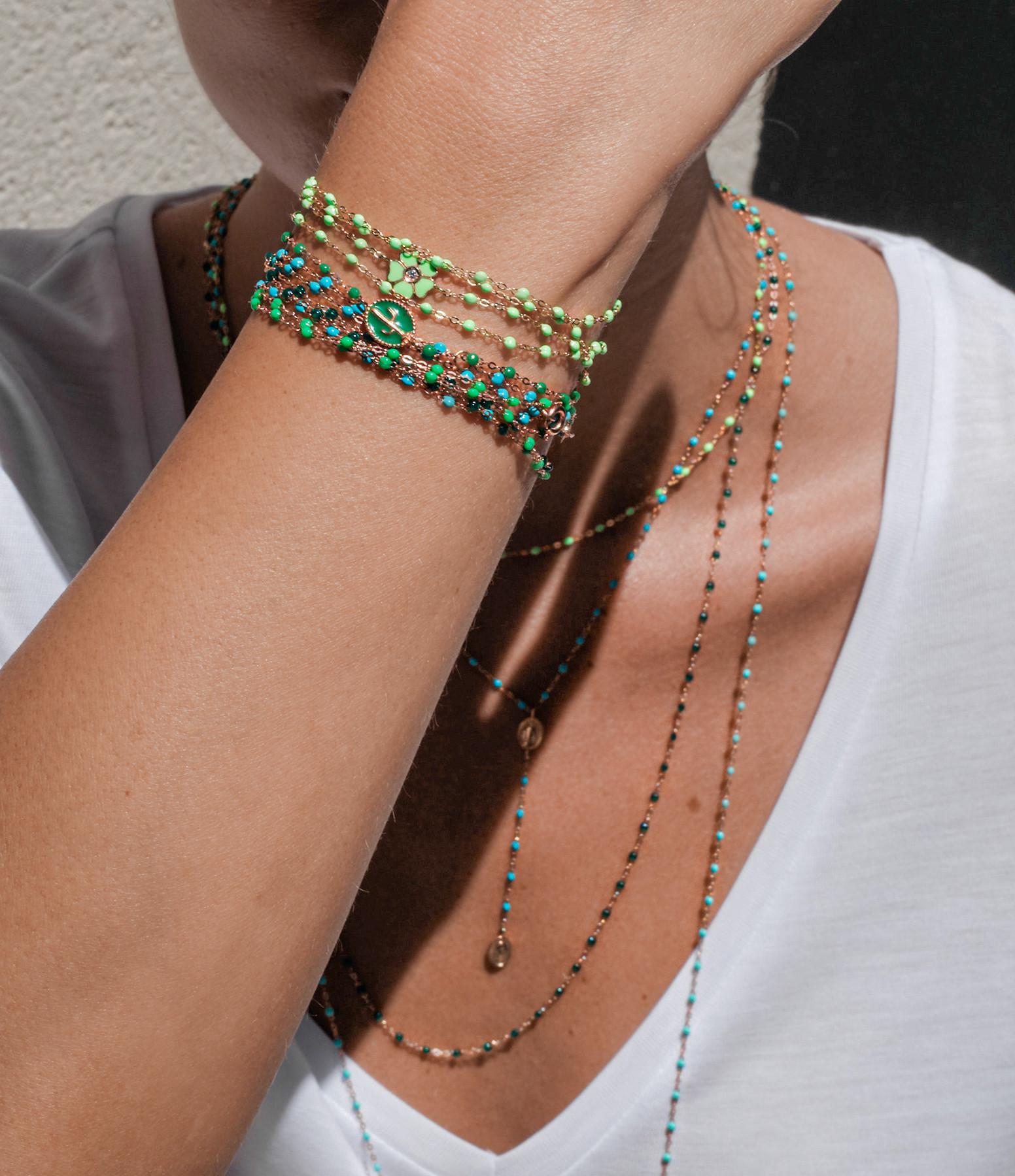 GIGI CLOZEAU - Bracelet Exclusivité Lulli Résine Bleu Or Rose