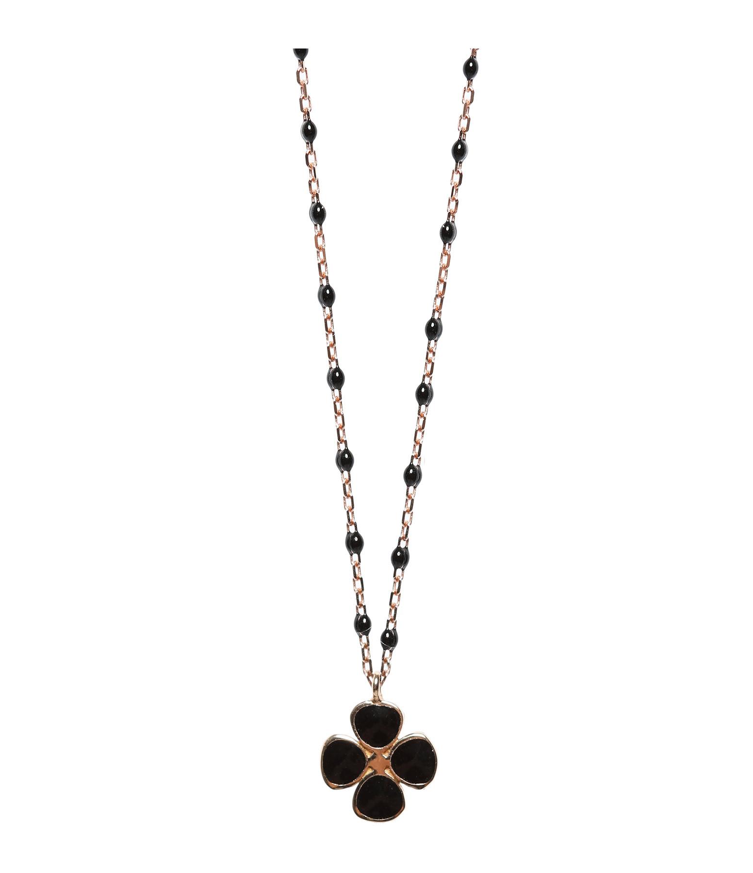 GIGI CLOZEAU - Collier Trèfle Noir Résine Noir, Exclusivité Lulli