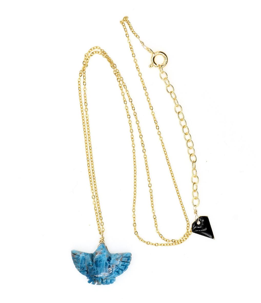 MON PRECIEUX GEM - Collier Condor Apatite Bleu