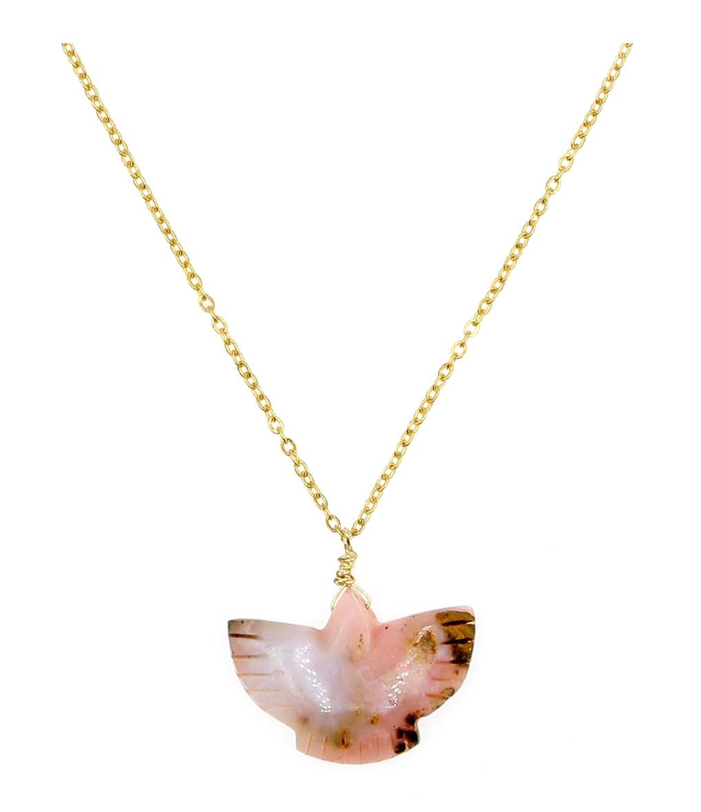 MON PRECIEUX GEM - Collier Condor Opale Rose