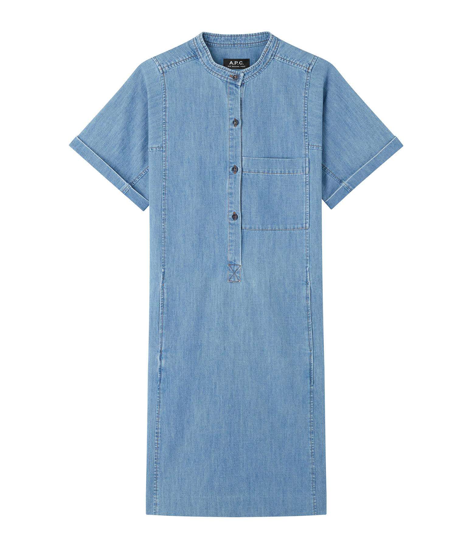 A.P.C. - Robe Temple Denim Bleu Clair