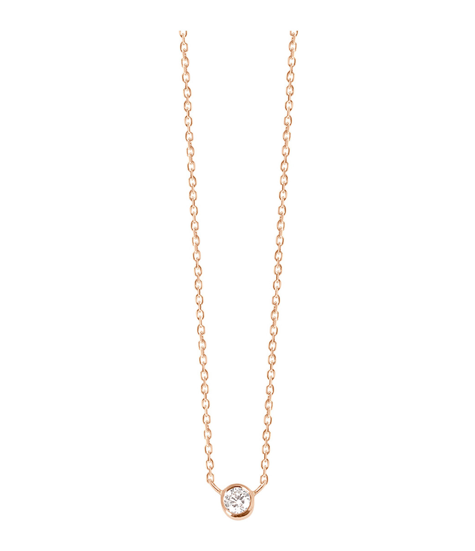 VANRYCKE - Collier One Or Rose Diamant