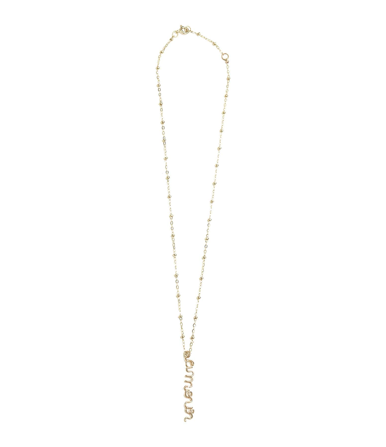 ATELIER PAULIN - Collier Pendentif Original Amour Gold Filled 14K