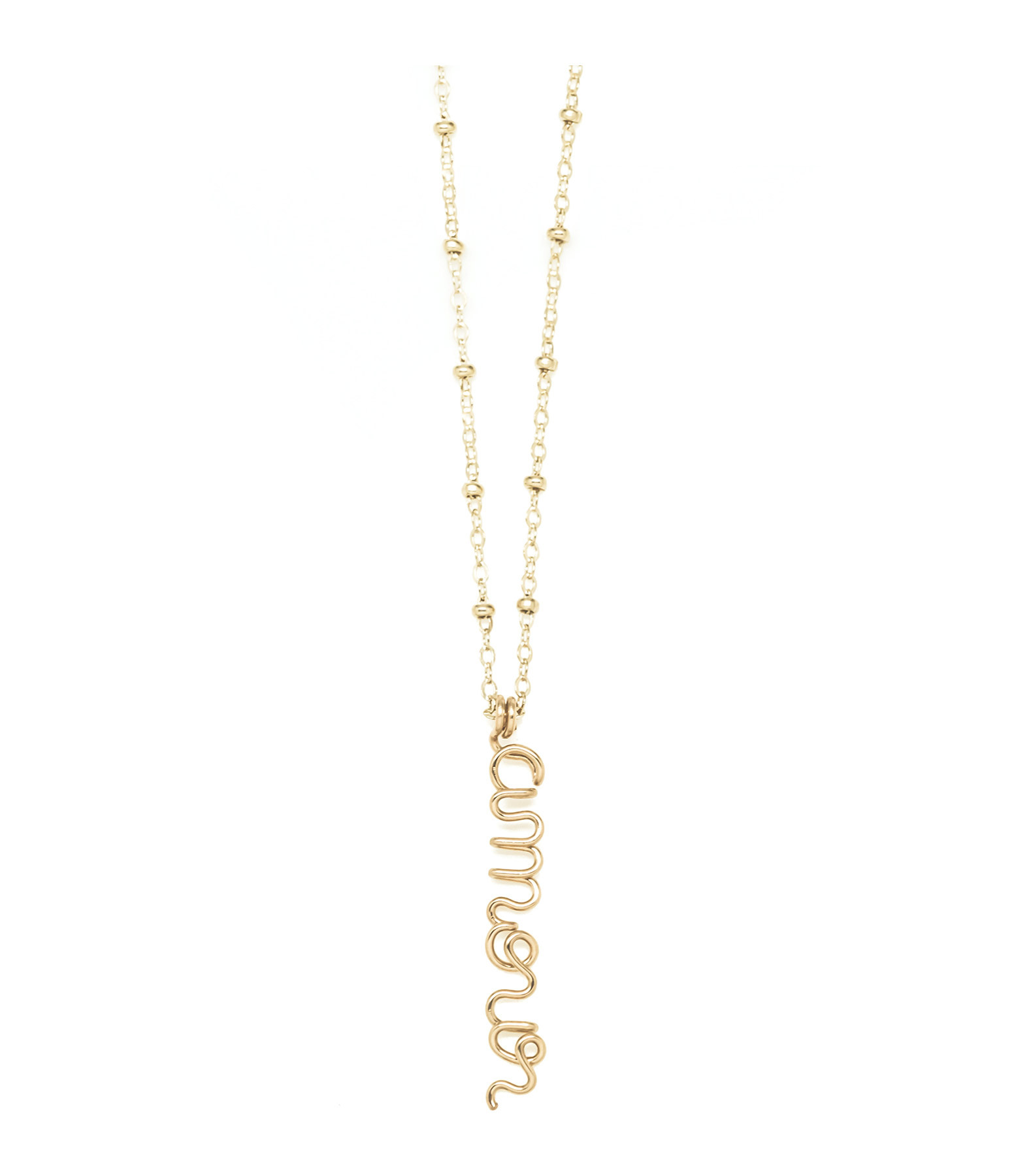 ATELIER PAULIN - Collier Pendentif Original Amour Gold Filled 14K