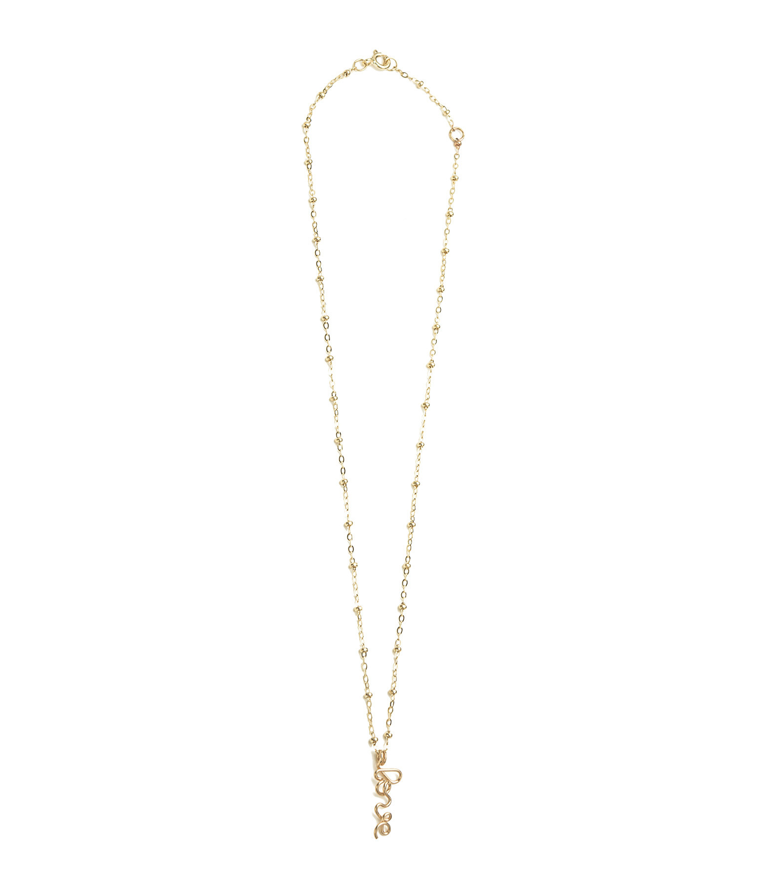 ATELIER PAULIN - Collier Pendentif Original Love Gold Filled 14K