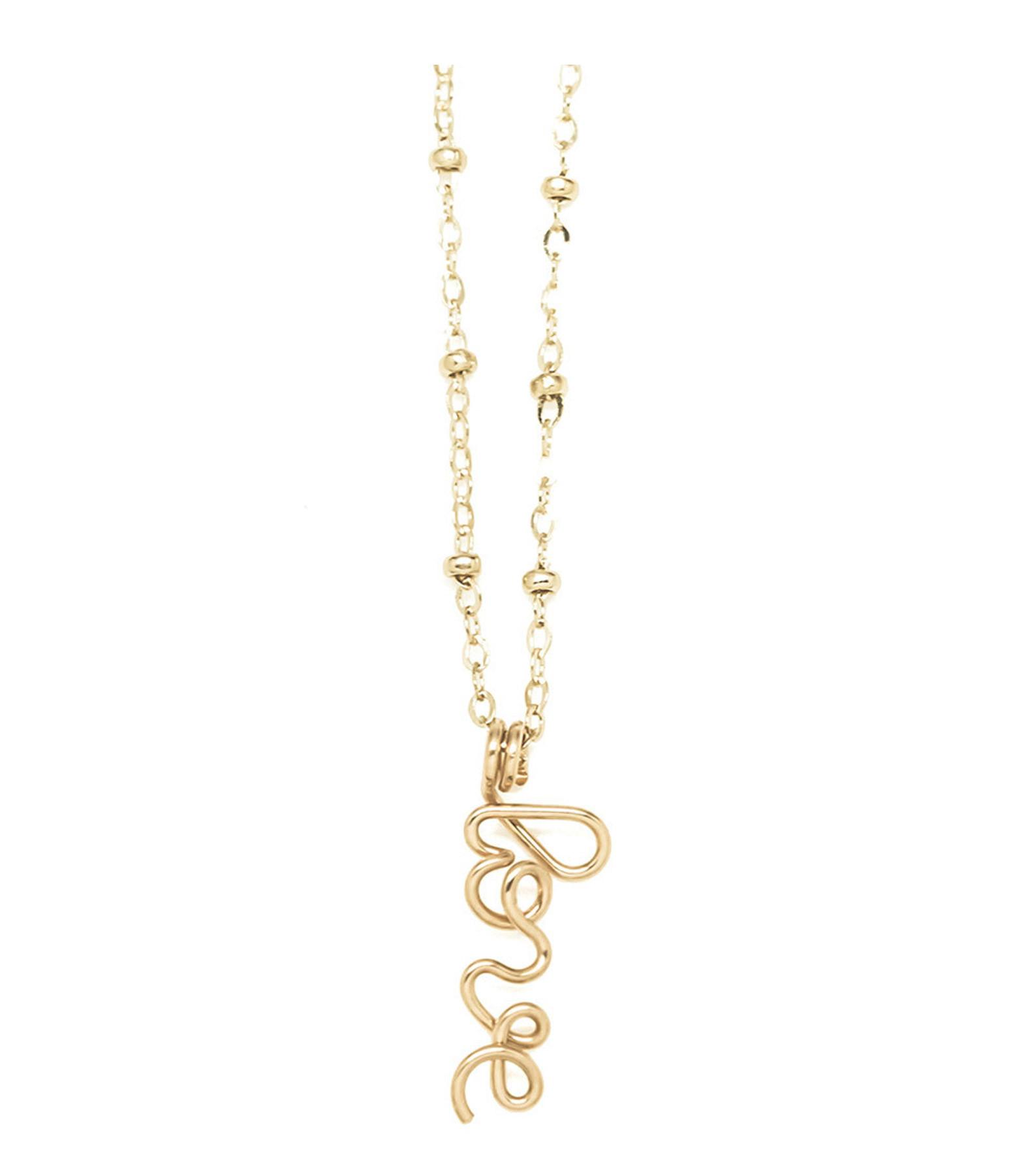 ATELIER PAULIN - Collier Pendentif Original Love Gold Filled 14K