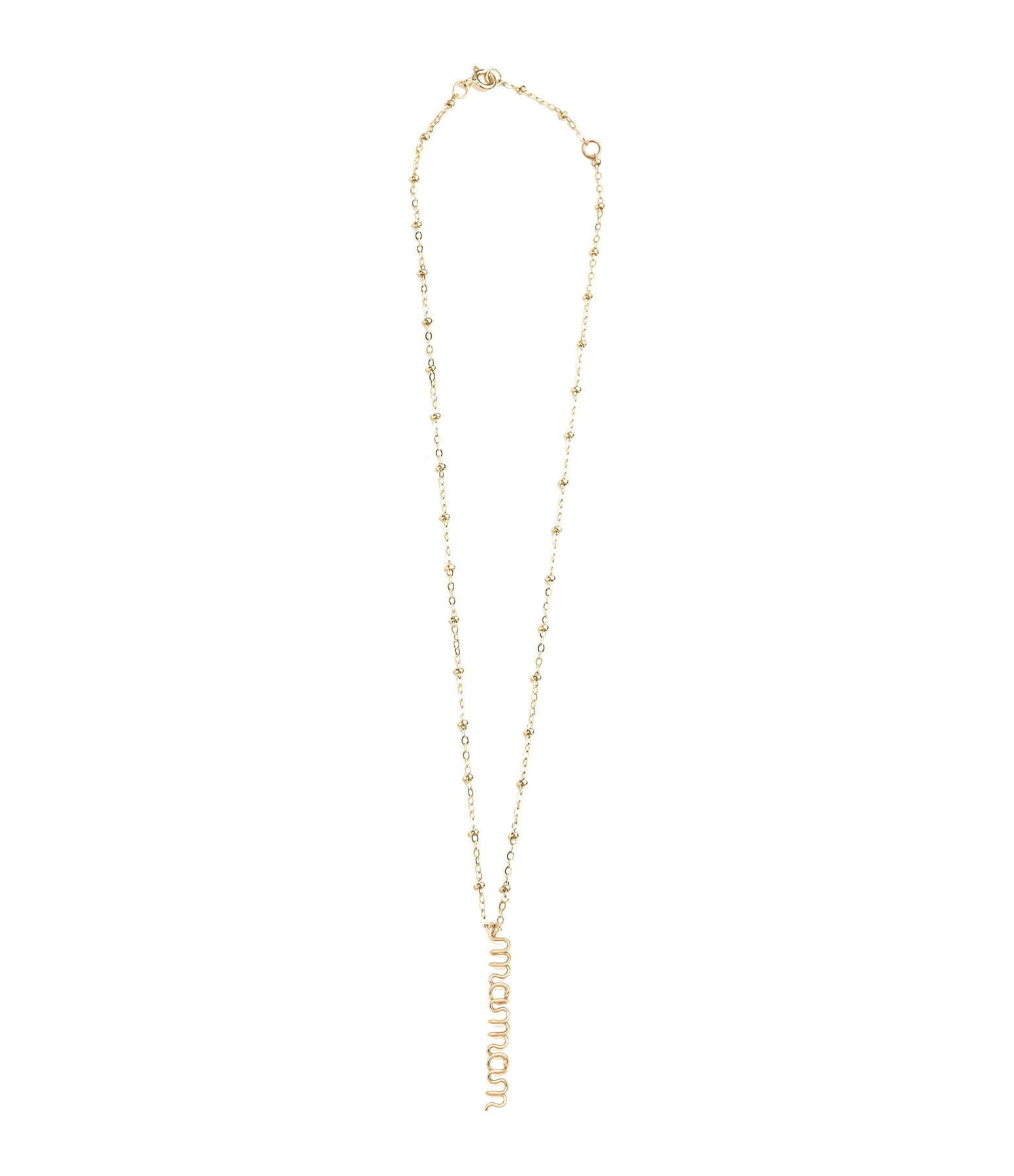 ATELIER PAULIN - Collier Pendentif Original Maman Gold Filled 14k
