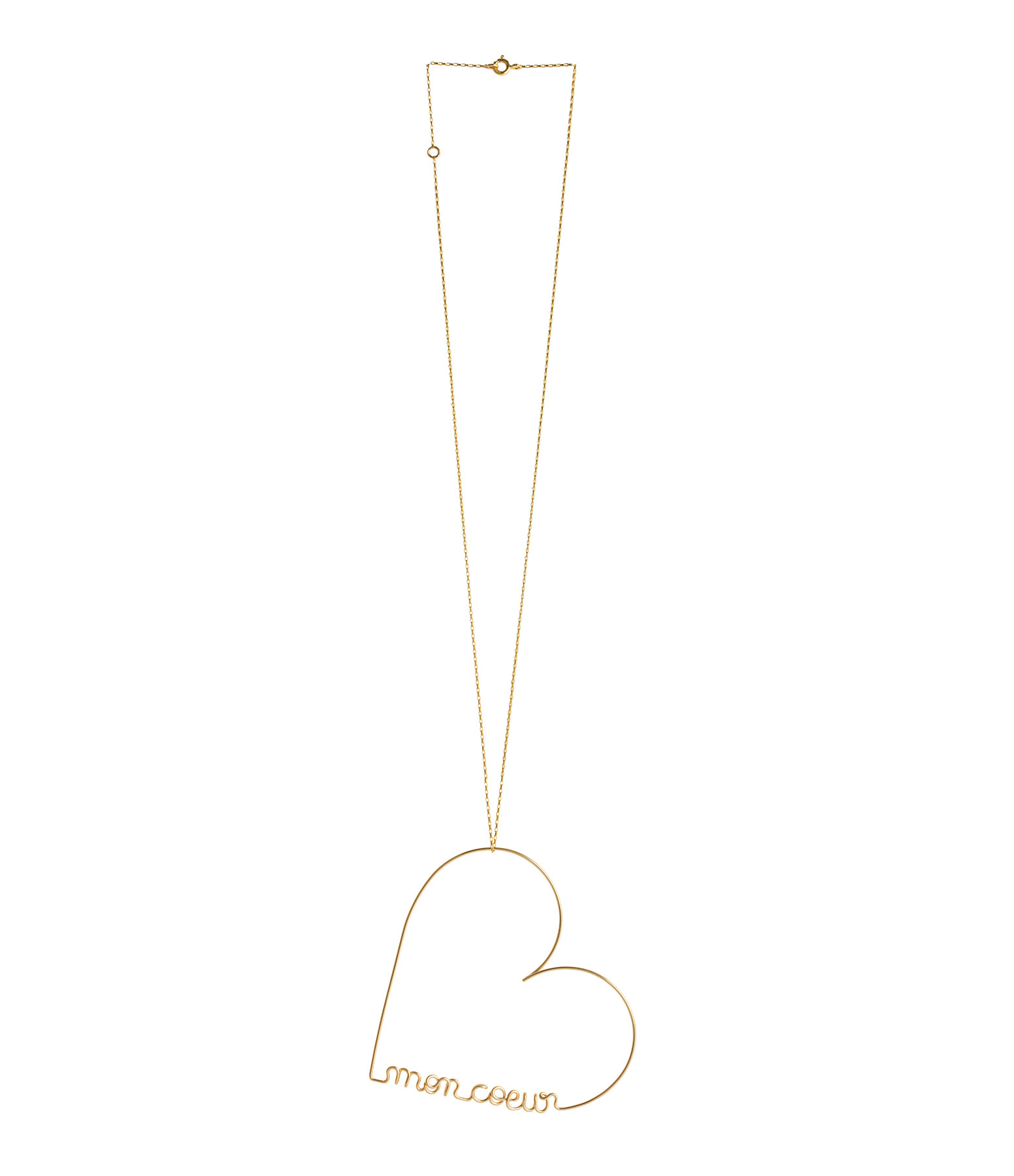 ATELIER PAULIN - Collier Mon Coeur Maxi Gold Filled 14K