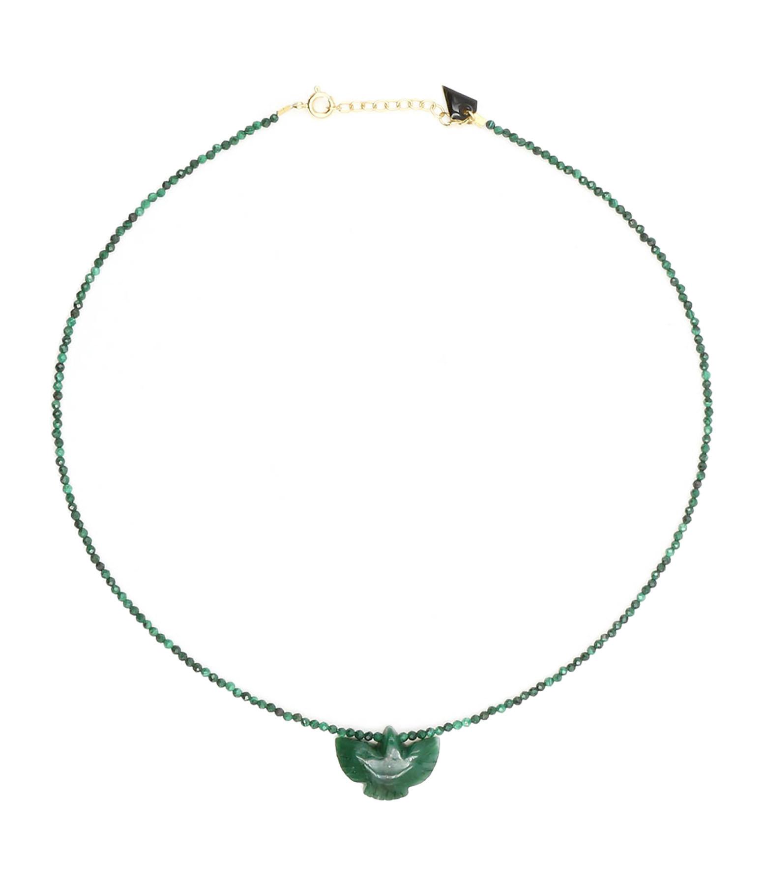 MON PRECIEUX GEM - Collier Condor Perles Jade