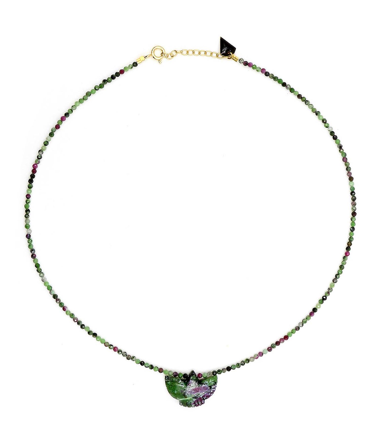 MON PRECIEUX GEM - Collier Condor Perles Rubis Zoïsite