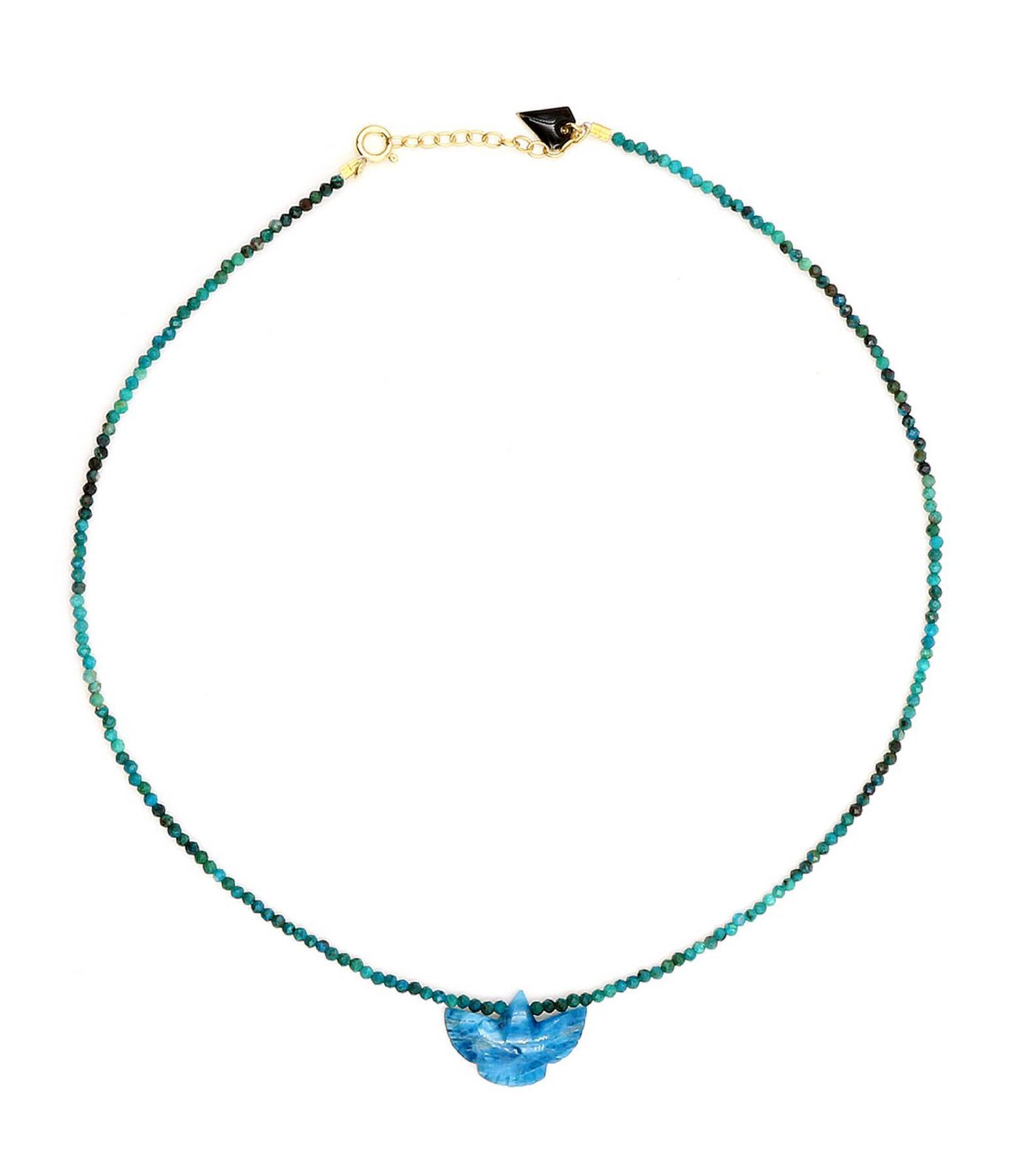 MON PRECIEUX GEM - Collier Condor Turquoise Apatite