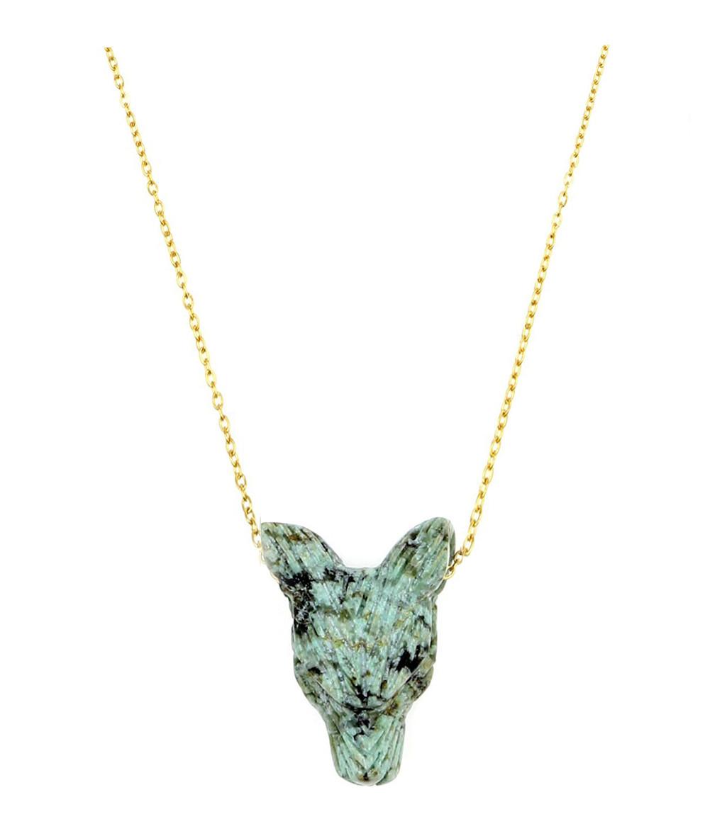 MON PRECIEUX GEM - Collier Loup S Turquoise Vert
