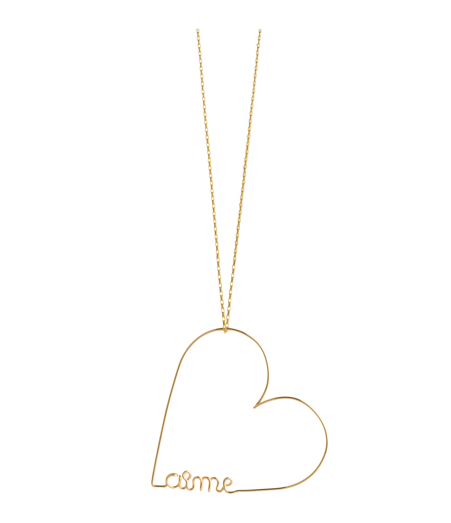 ATELIER PAULIN - Collier Mini Coeur Aime Gold Filled 14K