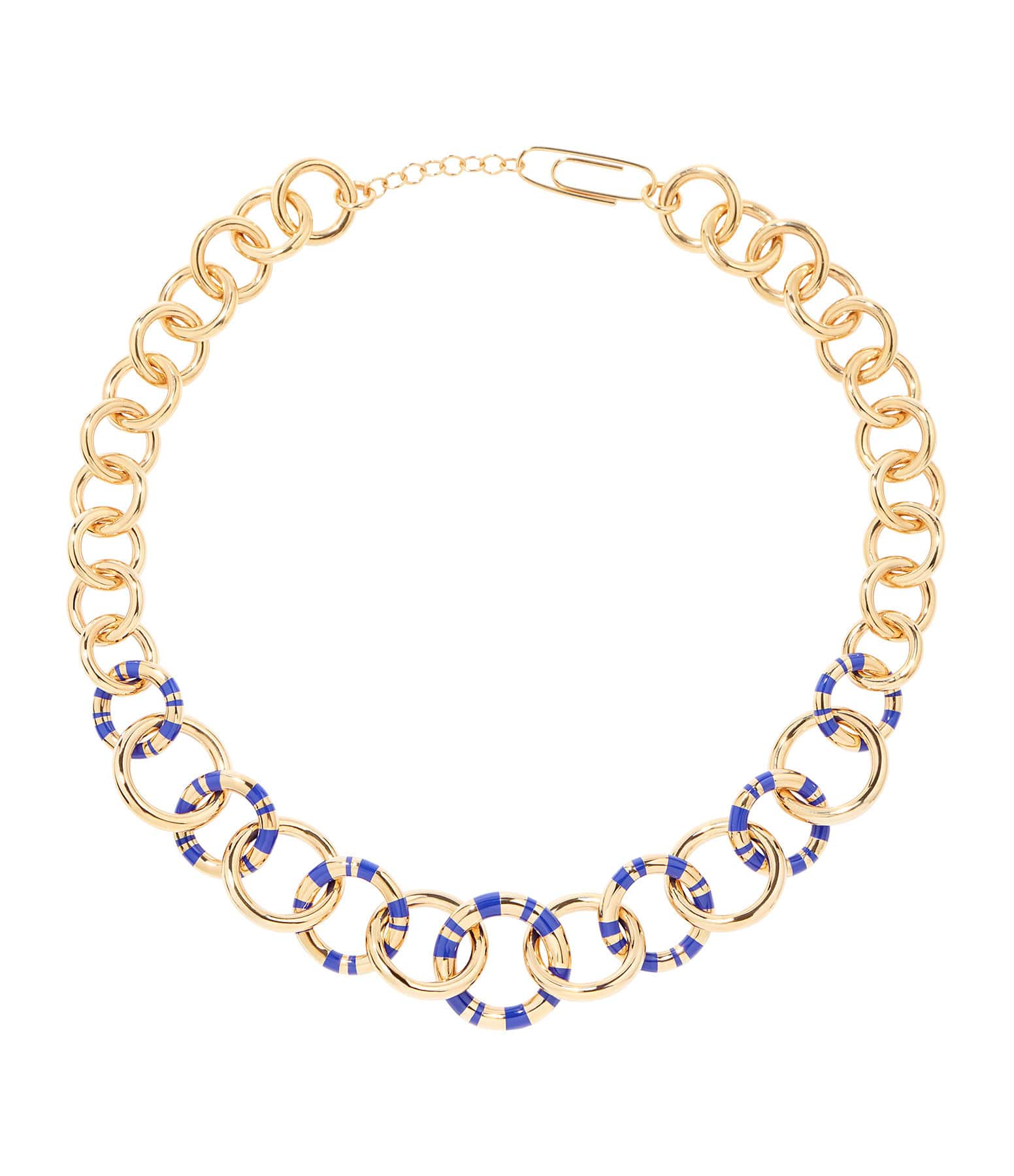AURELIE BIDERMANN - Collier Positano XL Lapis Lazuli Plaqué Or