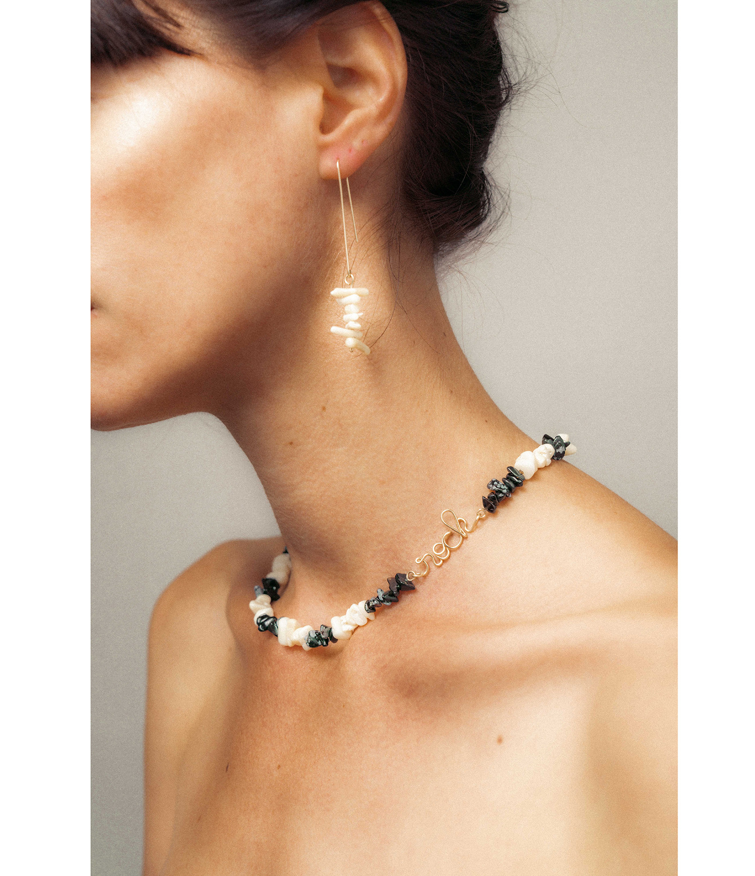 ATELIER PAULIN - Collier Rock Gold Filled Onyx Nacre